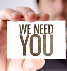 we need you poster sign